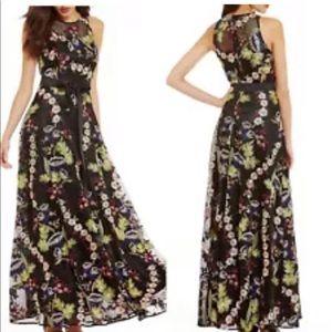 Tahari Black embroided dress sz 14